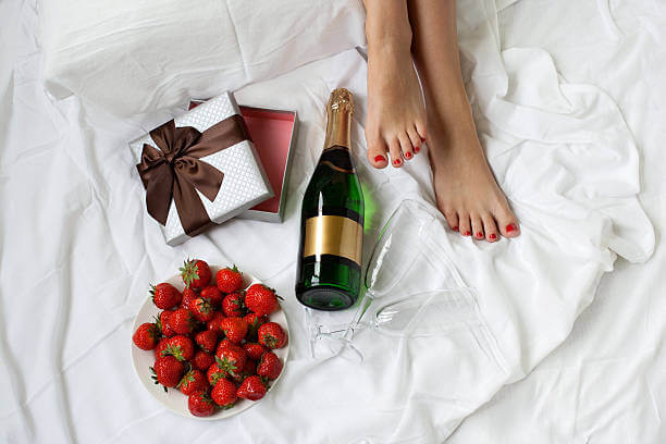 champagne ontbijt op bed moederdag